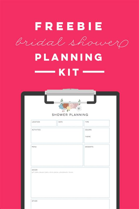 free printable bridal shower planning kit ms giggles