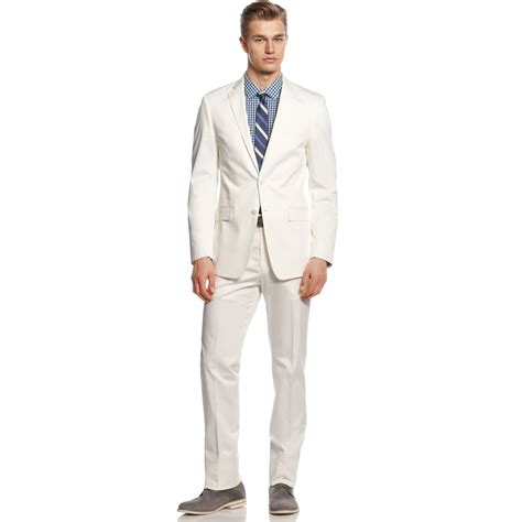 Kemeja Slim Fit White Slim All Size Cutton Strech calvin klein suit white cotton slim fit in white for lyst