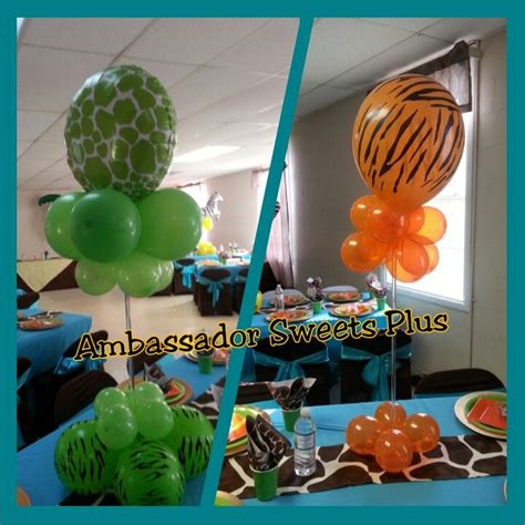 Jungle Theme Baby Shower Balloons by Jungle Theme Baby Shower Balloons And