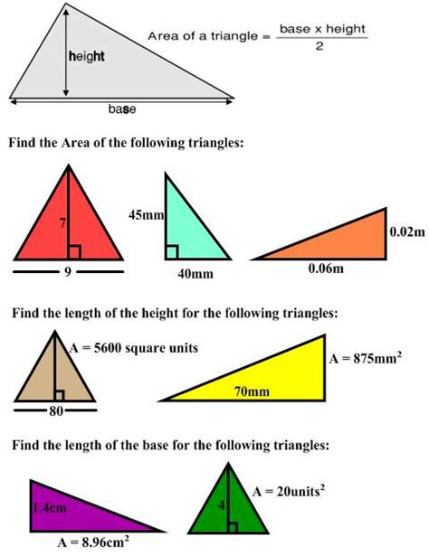 area of a section freemathtutoring area of a triangle exercises part of
