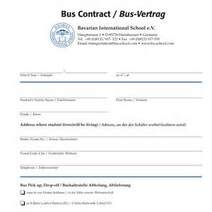 transportation agreement template transportation bavarian international school e v