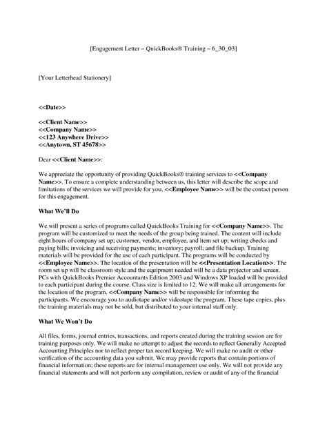 cpa engagement letter template letter of engagement crna cover letter
