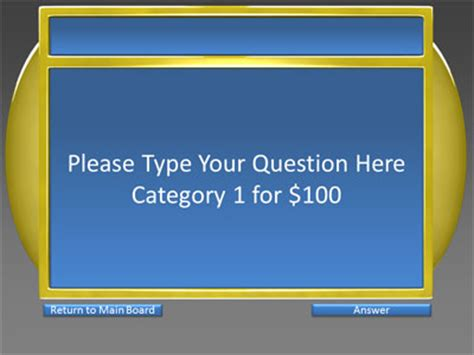 6 category question answer game show a powerpoint