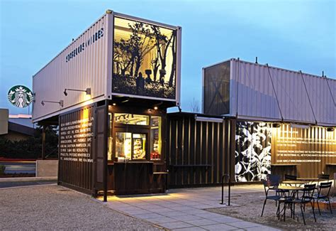 stores like container store starbucks opens store built from shipping containers