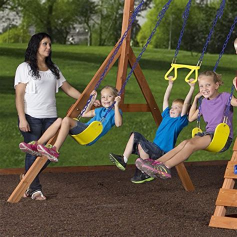 backyard discovery dayton cedar wooden swing set backyard discovery dayton all cedar wood playset swing set endurro the best kids indoor