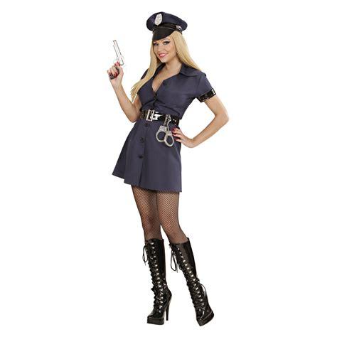 Jumpsuit Firza Blue costume poliziotta con gonna carnevale divertilandia