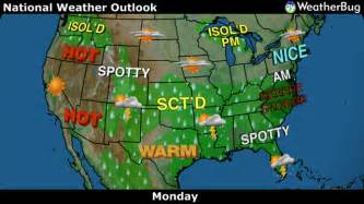 us forecast map today usa weather and forecast information on weatherbug
