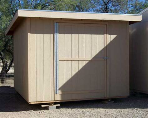 Lean To Style Single Slope Shed Plans With Porch   $11.95