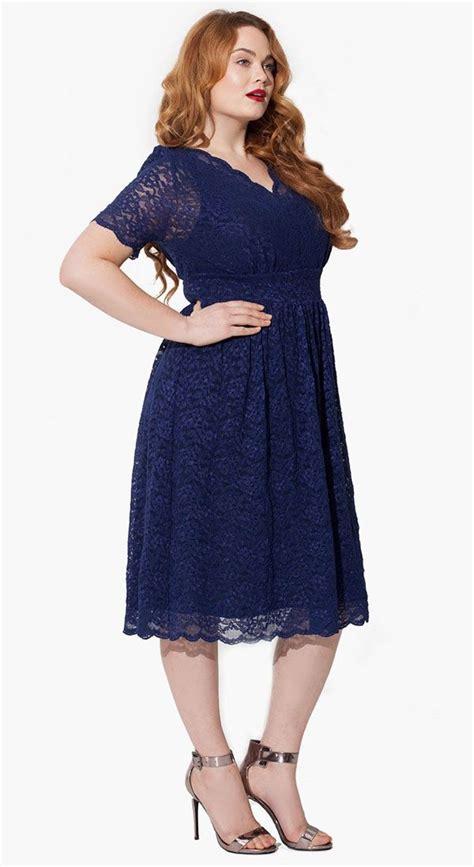 Big Size Blue cutethickgirls navy blue plus size dress 08