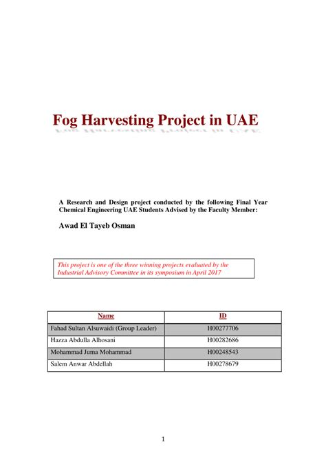 design engineer jobs in uae fog harvesting project in uae a research and design