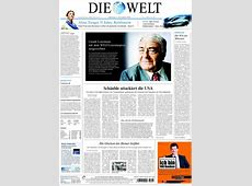 Newspaper Die Welt (Germany). Front pages from newspapers ... United Kiosk