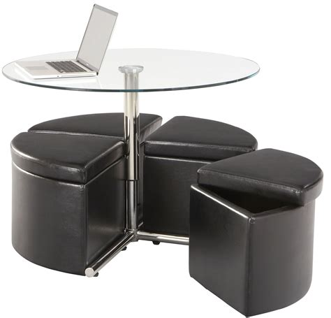 glass ottoman cosmo dark chocolate round glass cocktail table with