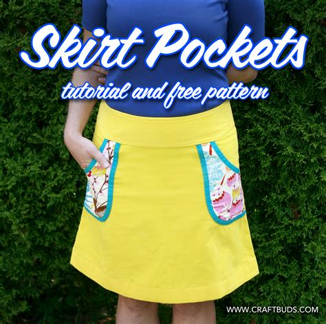 how to add pockets to any skirt tutorial and free pattern