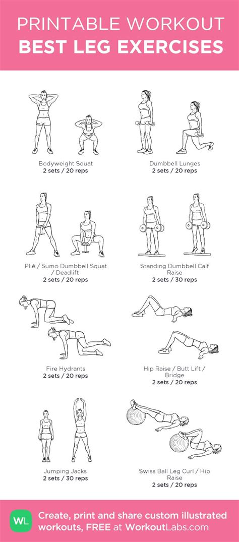 printable exercise workouts pin by ally douglas on fitness pinterest