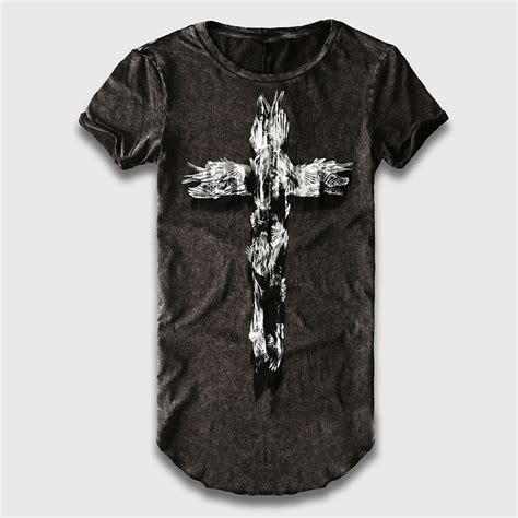 Longline Printed T Shirt Mens by Oversize Longline T Shirt Novelty Cross 3d Printed T Shirt O Neck Line