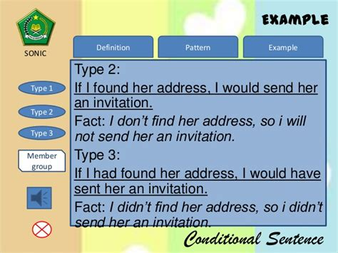 pattern of conditional sentence type 3 grammar conditional sentence type 2 and 3