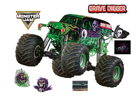 large grave digger truck grave digger officially licensed truck