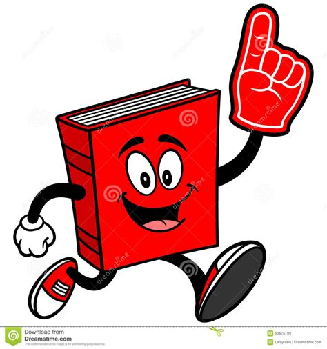you can run a novel books book running with foam finger stock vector image 53675199