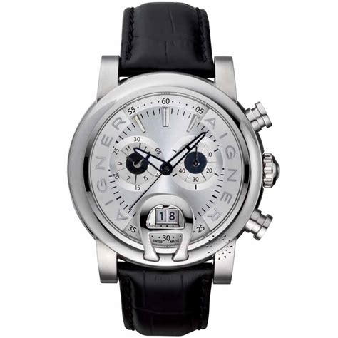Aigner Bari Silver Black ρολόι aigner bari chronograph black leather a37501