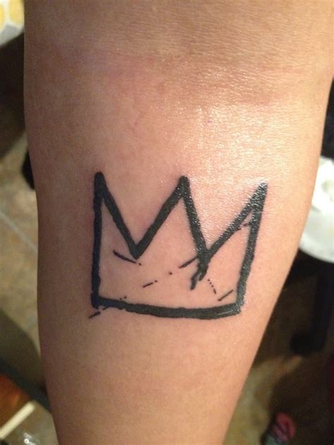 simple crown tattoo design