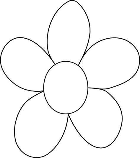 clipart of flowers coloring pages flower outline printable big flower clip vector