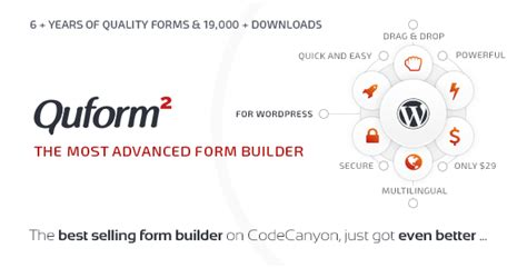 themes builder 2 0 download codecanyon quform v2 0 1 wordpress form