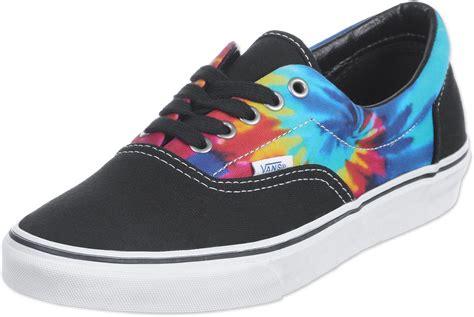 vans era shoes tie dye black