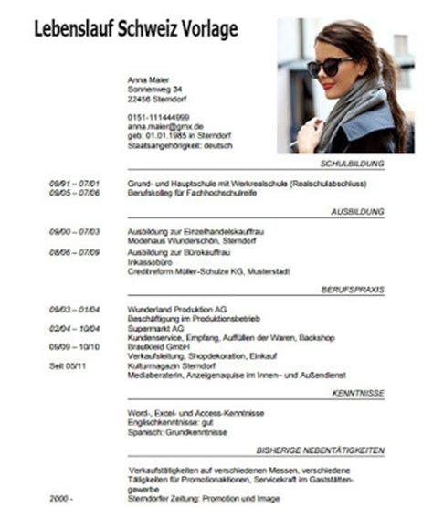 Lebenslauf Muster 400 Lebenslauf Schweiz Vorlage Dokument Blogs