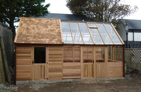 Garden Shed And Greenhouse Combination by Shed Greenhouse Combination In The Garden