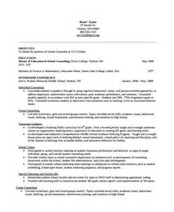 Sle Counseling Resume by Counselor Resume Sles