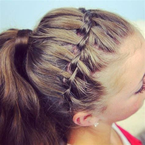 headband braid hairstyles dailymotion waterfall headband into a ponytail tutorial on www