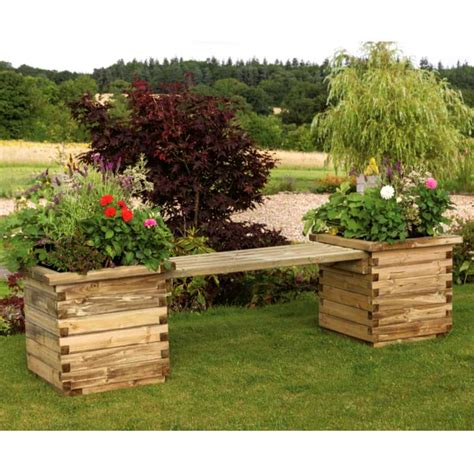 zest 4 leisure 2 seater planter bench on sale