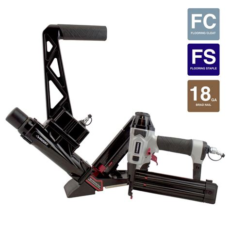 husky pneumatic solid hardwood flooring nailer with 18