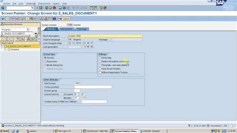 sap tutorial module pool module pool or dialog programming with table control in