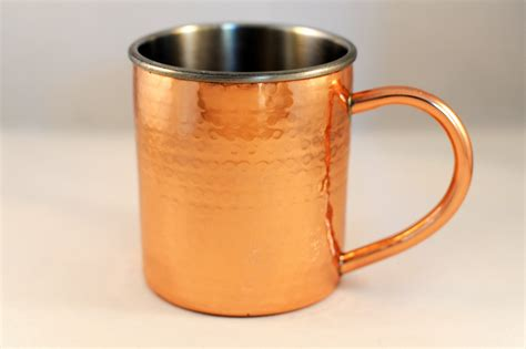 Double-wall Hammered Moscow Mule Mug · Copper Mugs ...