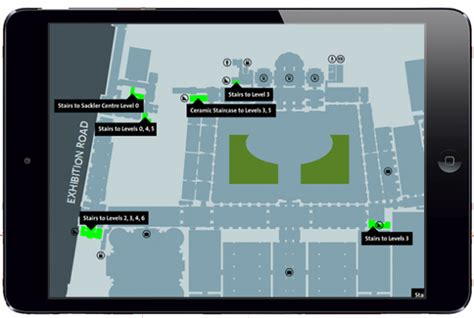 victoria and albert museum floor plan the v a digital map tablet optimised mobile responsive