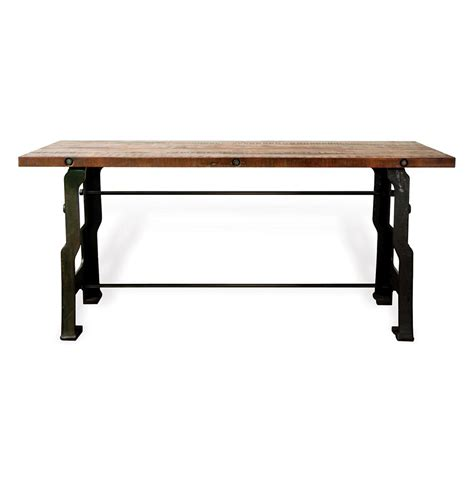 hector a frame industrial reclaimed wood cast iron desk