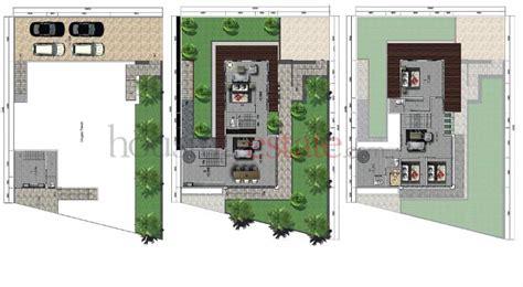 desain rumah dengan basement rumah dengan basement di lahan datar