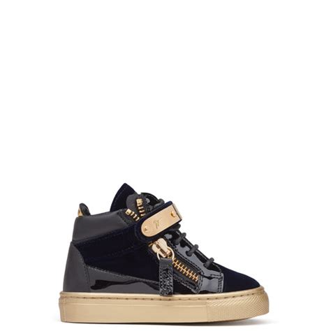 giuseppe kid shoes giuseppe zanotti baby shoes coby blue sneakers