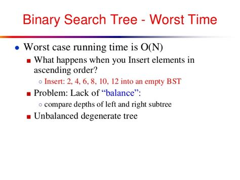 Worst Binary Search Avl Tree