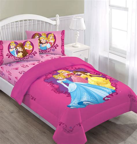 Dream Big Sea Princess Twin Mini Bedding Comforter Set Princess Bedding Set