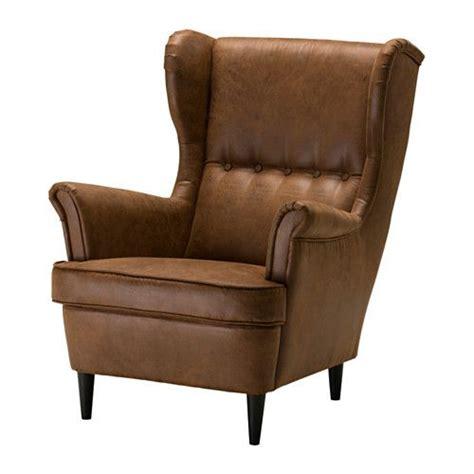 ikea strandmon sofa best 25 ikea leather chair ideas on cow hide