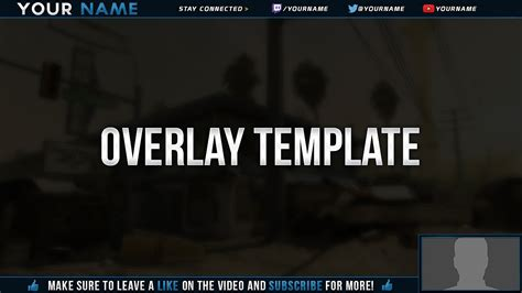 free video twitch overlay template tutorial youtube