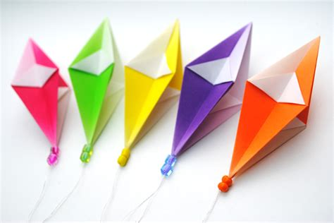 Origami Paper Kites - colorful origami from www origami 2018