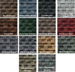 timberline shingles color chart roof shingles colors