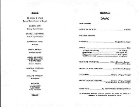 Chuckman S Places Myra Bradwell Elementary Graduation Program For Bill Chuckman Mr Kazmier High School Graduation Program Template