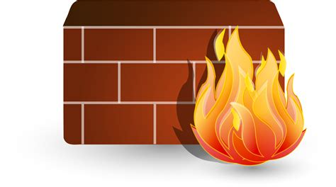 picture illustration free clipart illustration of a computer firewall
