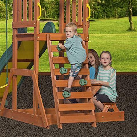 Backyard Discovery Prestige All Cedar Wood Playset Swing Backyard Discovery Prestige Wood Swing Set
