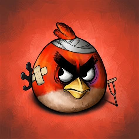angry birds painting angry bird by scooterek on deviantart