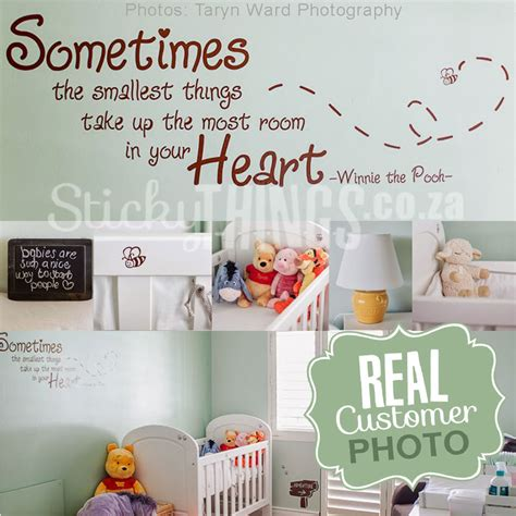 Winnie The Pooh Wall Sticker winnie the pooh wall sticker quote stickythings co za